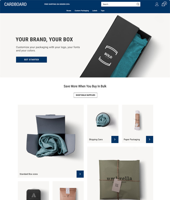 cardboard ecommerce templates by volusion seo friendly free