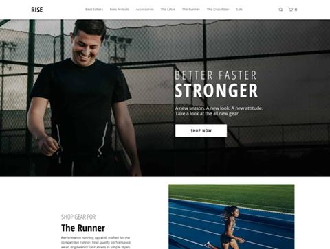 Runner | Ecommerce Templates by Volusion | SEO Friendly Free ...